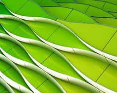 1X - Green and yellow waving by Gerard Jonkman