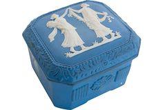 Vintage English Porcelain Box
