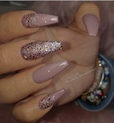 Mar 23 2020 53 Chic Natural Gel Nails Design Ideas for Coffin Nails . - Mar 23 2020 53 Chic Natural Gel Nails Design ideas for coffin nails pink Gel c 53 Chic - Pink Gel, Pink Nails, My Nails, Hard Gel Nails, Glitter Nails, Glitter Eye, Glitter Makeup, Stiletto Nails, Rose Gold Nails