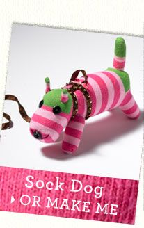 From Boden, how to make a sock puppet. WHY, oh why did I give away all the girls cool tights when they grew out of them??