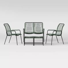 Fitchburg 5pc Patio Conversation Set - Green - Project 62™ : Target Patio Dining, Patio Chairs, Outdoor Chairs, Outdoor Seating, Small Outdoor Spaces, Small Spaces, Patio Loveseat, Patio Bar Set, Fire Pit Patio