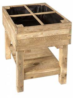 Mesa de cultivo de madera de pino