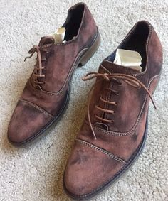 Sperry Top Sider Brown Leather Plain Toe Oxford Men's Shoes Sz 9.5 M