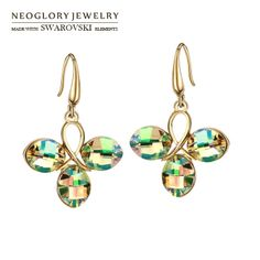 Aliexpress.com : Buy Neoglory Crystal Rhinestone Stud Earrings Wholesale Rose Gold Plated Fashionable Jewelry For Women Present 2014 New Arr...