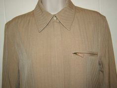 Lauren Ralph Lauren #Women's Size Large Tan Beige #Camel Beacon Polo Zip Jacket $230 #LaurenbyRalphLauren