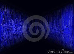 Blue horizon - electronic circuit board patern