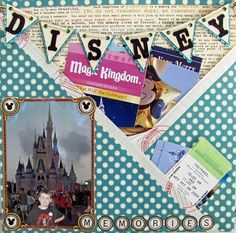 Disneyland Pocket Page - reminder to put pocket pages in your scrapbooks.