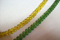 Full 12 inch Strand of Teardrop Glass by MarcenzJewelSupplies, $2.50