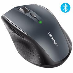Tecknet Bluetooth Wireless Mouse Dpi For Laptop Notebook Pc Computer. TeckNet Bluetooth Mouse TeckNet Bluetooth mouse is a mouse you can really rely on to work with your Bluetooth-enabled PC - no receiver required. Mobile Mouse, Hard Ware, Battery Indicator, 4g Wireless, Pc Computer, Notebook Laptop, Chromebook, Logitech, Ergonomic Mouse