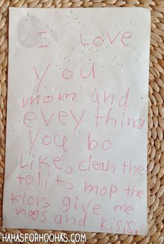 Kid Notes: Best Backhanded Compliment Ever | HaHas for HooHas