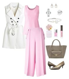 """""""#ContestOnTheGo #ContestEntry"""" by ycsandjaja on Polyvore featuring White House Black Market, Lands' End, Emilio Pucci, Nine West, Movado, Samira 13, Kenneth Jay Lane, Christian Dior, Laura Mercier and Marc Jacobs"""