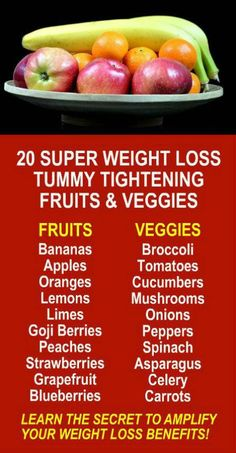 20 Great Weight Loss Tummy Tightening Fruits & Vegetables. Get our FREE weight loss eBook with suggested fitness plan, food diary, and exercise tracker. Learn about Zija's potent Moringa based weight loss products that help your body increase energy, burn increase energy food