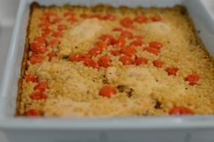 Couscous Chicken Bake featuring our award winning Garlic Gold Extra Virgin Olive Oil. Click the image for recipe.