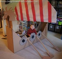 This site has so many fun kid ideas. Wish we had room for the viking ship.