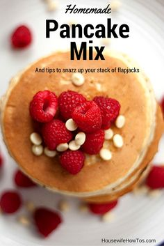 Homemade Pancake Mix is easy and inexpensive to make - plus tips to snazz up…