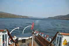 Cruising the England's largest lake - Windermere Lake @ Lake District, Cumbria (UK)