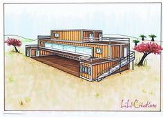 Container House - - Who Else Wants Simple Step-By-Step Plans To Design And Build A Container Home From Scratch? Shipping Container Buildings, Shipping Container Home Designs, Container House Design, Shipping Containers, Building A Container Home, Storage Container Homes, Interior Tropical, Container Restaurant, Container Architecture