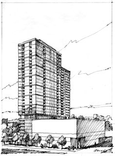 Preliminary sketch.  Charrette drawing by Bondy Studio.  About 60 minutes.