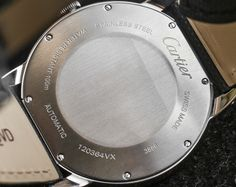Cartier Ronde Croisiere Watch caseback and strap
