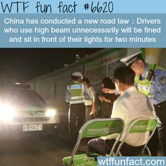 How the Chinese handle people who use high beam… - WTF fun facts
