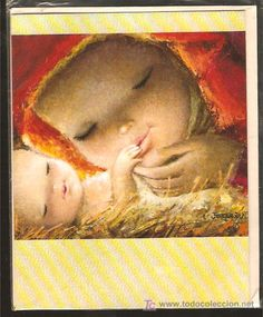 FELICITACION NAVIDAD FERRÁNDIZ  1966 Merry Christmas To All, Vintage Christmas Cards, Blessed Mother, Mother Mary, Sierra Leone, Catholic, Images, Africa, Halloween