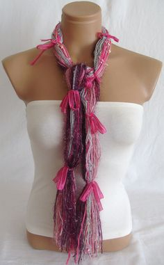 $19.00 No Sew Scarf, Scarfs, Crochet Necklace, Knitting, Sewing, Gifts, Etsy, Fashion, Moda