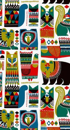 marimekko wallpaper | Sanna Annukka