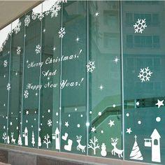 grande de la navidad ventana de cristal pegatinas de pared sticker decal decoracin decoracin de la