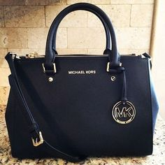 Shop Now: MICHAEL Michael Kors Sutton Medium Satchel... This is such a classic looking bag, LOVEEEE it