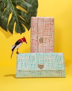 A designer clutch with a hand-made vibe is on our summer wish list!