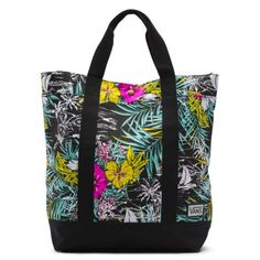 The Gone Tomorrow Tote Bag is a premium cotton canvas fashion tote with an all over graphic print. It has a 12 ounce canvas 100% cotton shell, exterior pockets, a 20 liter capacity and a Vans woven label.