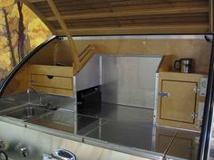 Wow - a stainless steel galley!  It looks like a professional kitchen.