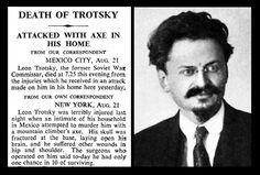 21st August 1940 - Death of Leon Trotsky
