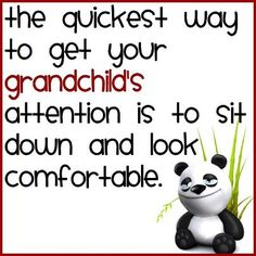 Want your grandchild's attention?