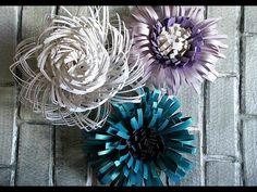 Цветы из бумаги. СЕРЕДИНКИ - YouTube