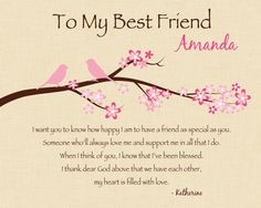 BEST FRIEND Gift Personalized print for by KreationsbyMarilyn