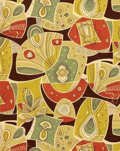 Textile design, 1950s