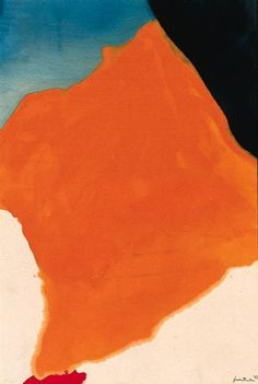 Helen Frankenthaler, Orange Lozenge, 1967, acryllic on canvas, 47 x 32 in.