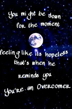 Overcomer by Mandisa love this song!