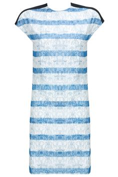 White screen print blue stripe tunic BY MORPHE. Shop now at:http://www.perniaspopupshop.com/ #perniaspopupshop #white #screenprint #blue #stripe #tunic #label #love #designer #chic #style #fashion #trendy #beautiful #happyshopping