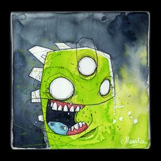 """Supa Green"" #illustration #canvas"