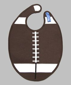 Another great find on #zulily! Brown & White Football Bib by Dibs on Bibs #zulilyfinds