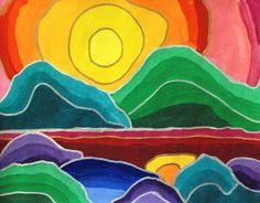 Artsonia Art Museum :: Artwork by Lillian455 value shaded landscapes