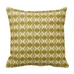 Het behangpatroon van het art deco - goud en wit sierkussen