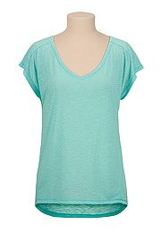 Teal high-low v-neck tee - maurices.com
