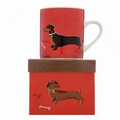 Woof Mug Dachshund from www.illustratedliving.co.uk