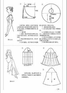 Dress Sewing Patterns, Sewing Patterns Free, Sewing Tutorials, Clothing Patterns, Sewing Projects, Sewing Collars, Sewing Sleeves, Pattern Cutting, Pattern Drafting