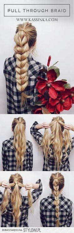 Pull Through Braid Hair Tutorial | Kassinka | Bloglovin… na Stylowi.pl