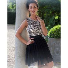 Lipsy V I P Shaped Detail Dress ($165) found on Polyvore