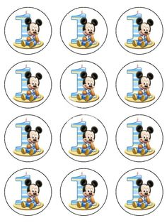 01 1st Birthday Mickey Mouse Icing Cake Topper